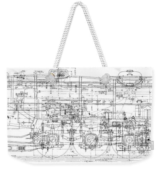 Pacific Locomotive Diagram Weekender Tote Bag