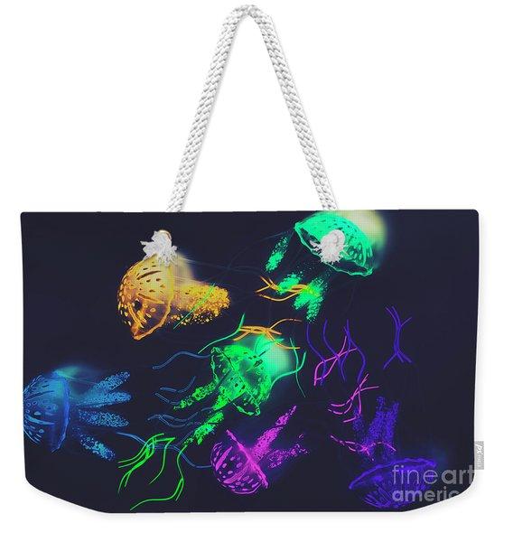 Pacific Pop-art Weekender Tote Bag