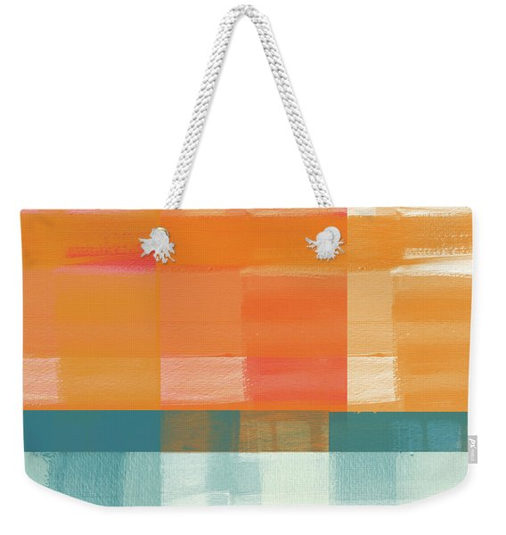 Pacific Sunset 2- Abstract Art By Linda Woods Weekender Tote Bag