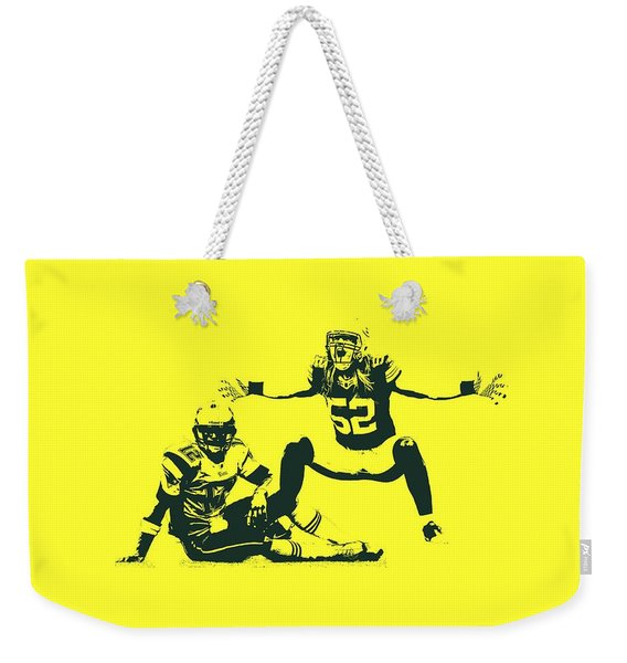 Packers Clay Matthews Sack Weekender Tote Bag