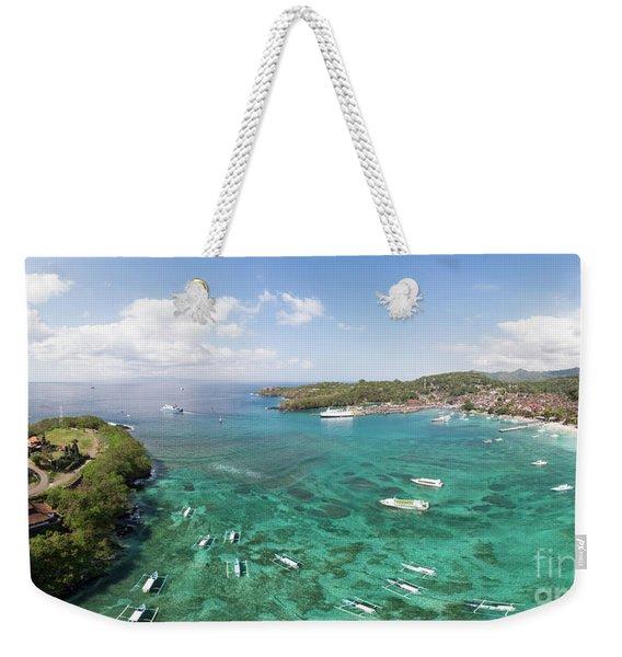 Padang Bai Panorama In Bali Weekender Tote Bag