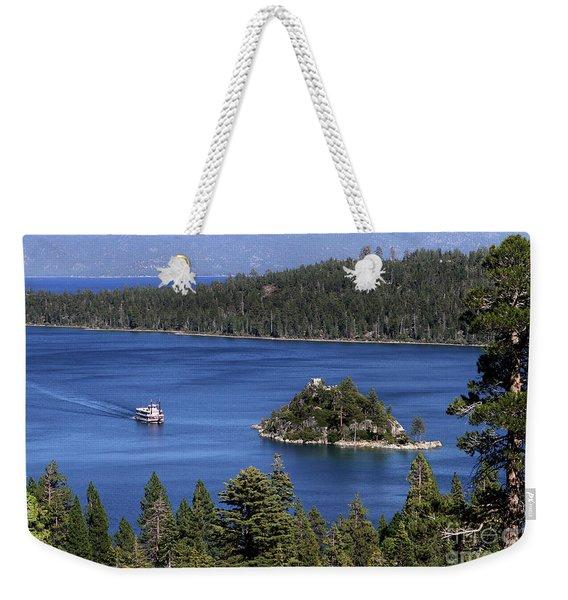 Paddle Boat Emerald Bay Lake Tahoe California Weekender Tote Bag