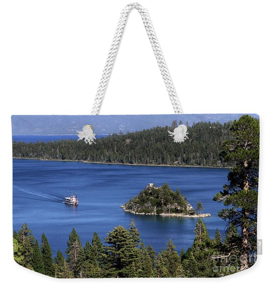 Paddle Boat Emerald Bay Lake Tahoe California Weekender Tote Bag