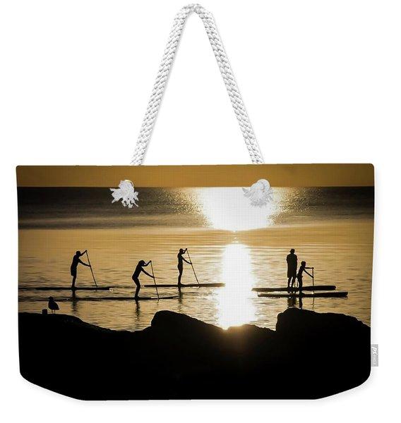 Paddle Gold Weekender Tote Bag