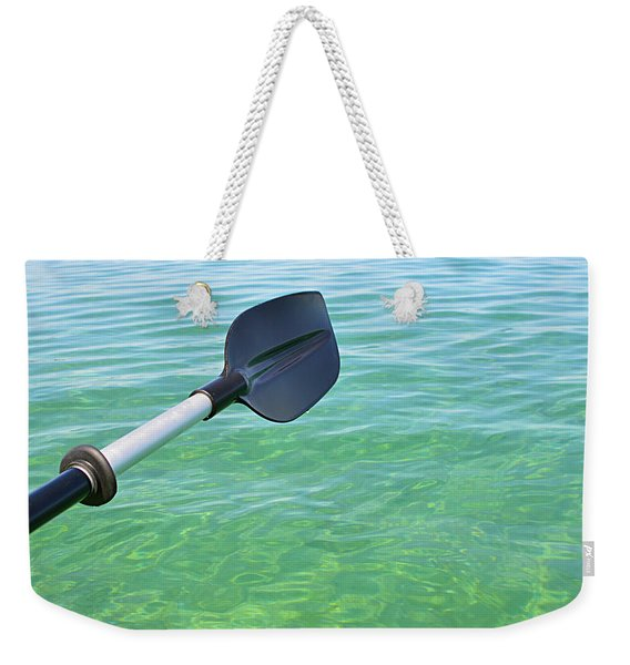 Paddling Grand Traverse Bay Weekender Tote Bag
