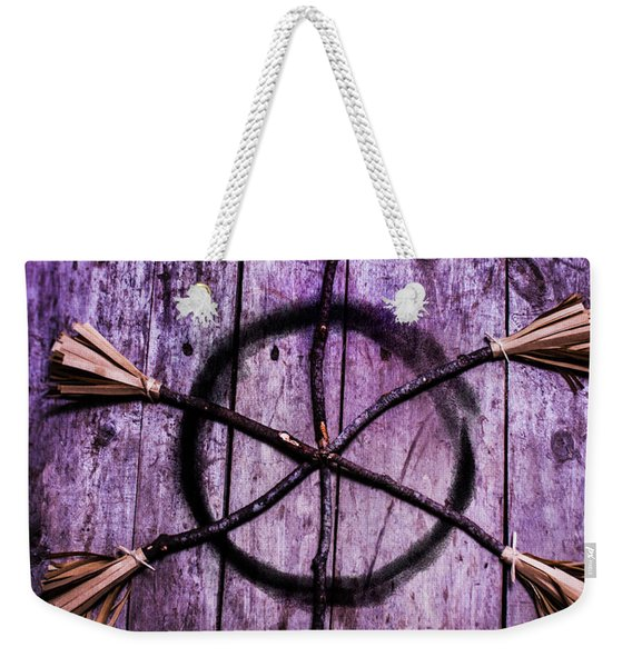 Pagan Or Witchcraft Symbol For A Gathering Weekender Tote Bag