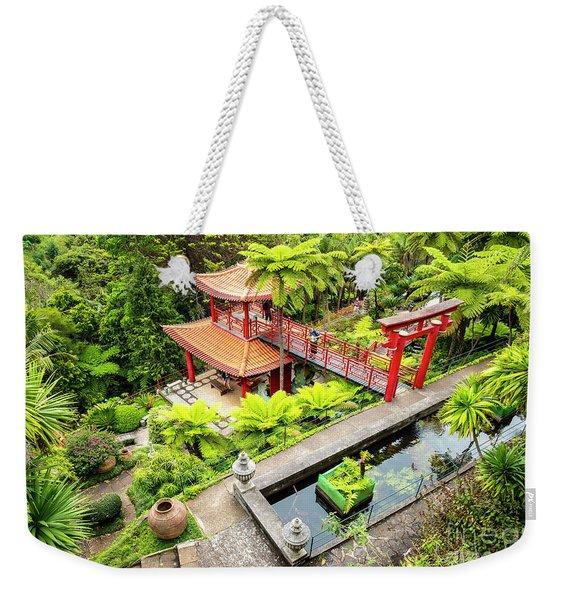 Pagoda Pool Weekender Tote Bag