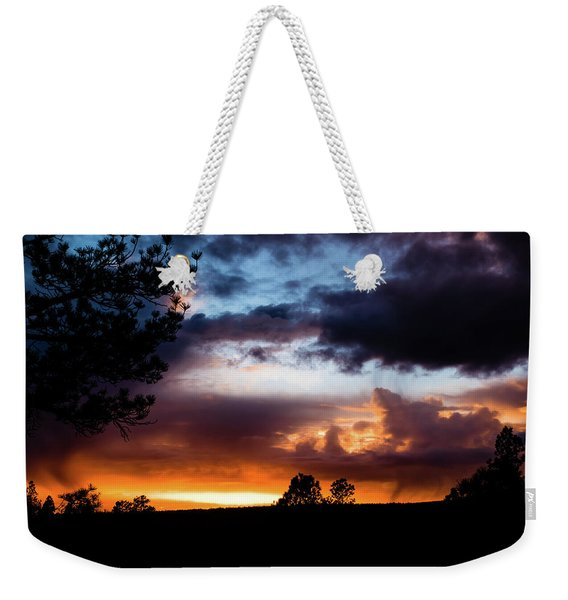 Weekender Tote Bag featuring the photograph Pagosa Sunset 11-20-2014 by Jason Coward