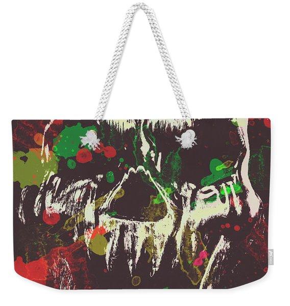 Paint Splash Skull Weekender Tote Bag