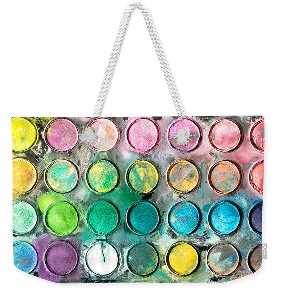 Paint Tray Weekender Tote Bag
