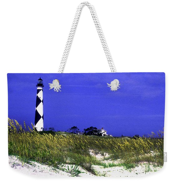 Painted Cape Lookout Lighthouse Weekender Tote Bag