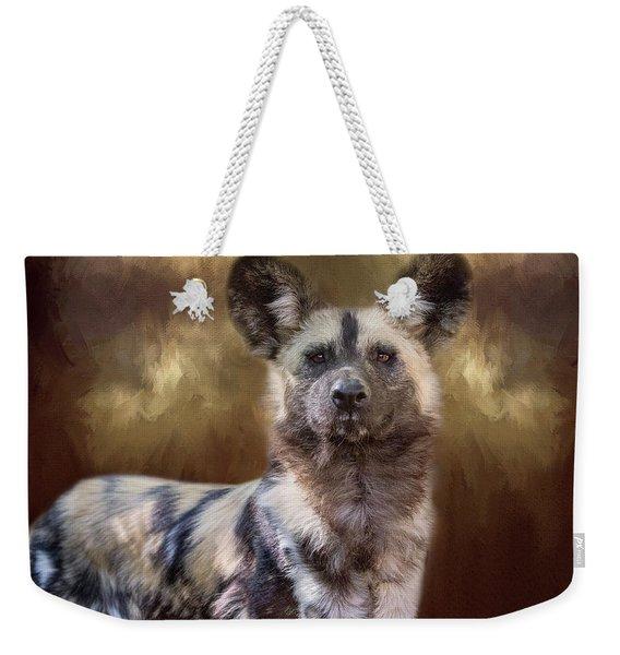 Painted Dog Portrait II Weekender Tote Bag