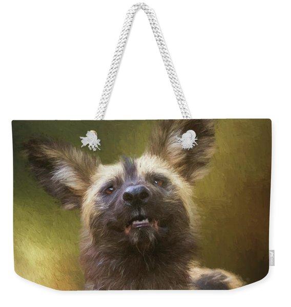 Painted Dog Portrait Weekender Tote Bag