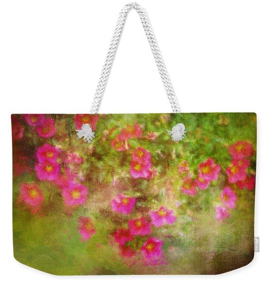 Painted Flowers Weekender Tote Bag