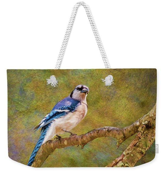 Painted Jay Weekender Tote Bag