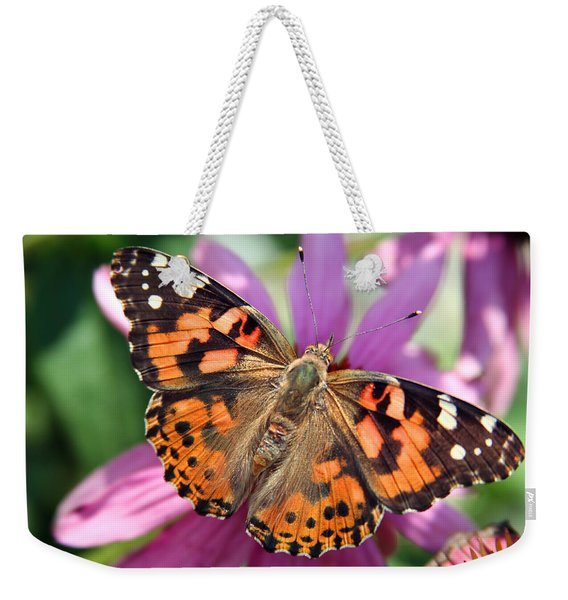 Painted Lady Butterfly Weekender Tote Bag