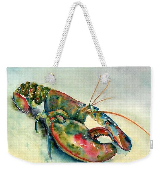 Painted Lobster Weekender Tote Bag