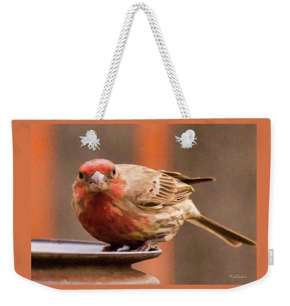Painted Male Finch Weekender Tote Bag