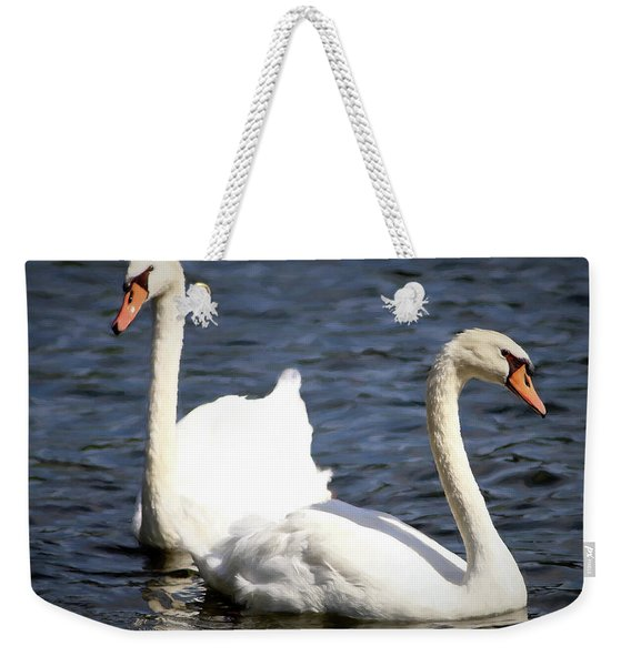 Painted Mute Swans Of Lake Junaluska North Carolina II Weekender Tote Bag