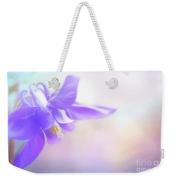 Painted Purple Columbine Weekender Tote Bag