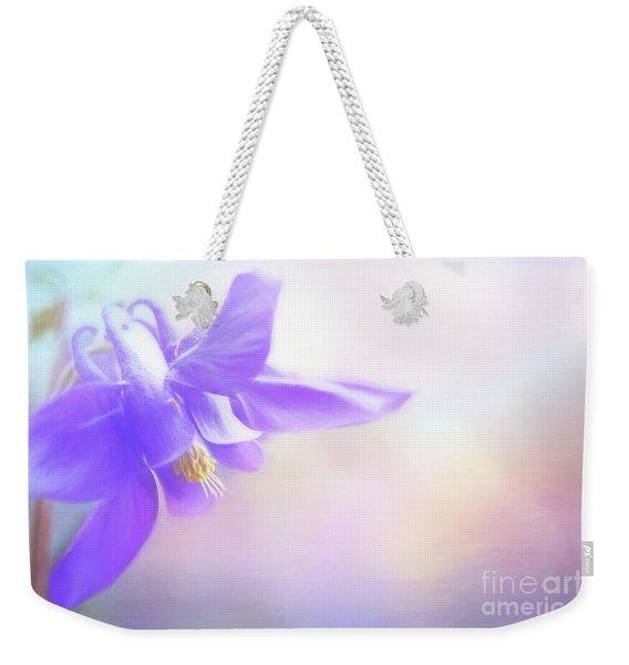 Painted Purple Columbine Weekender Tote Bag