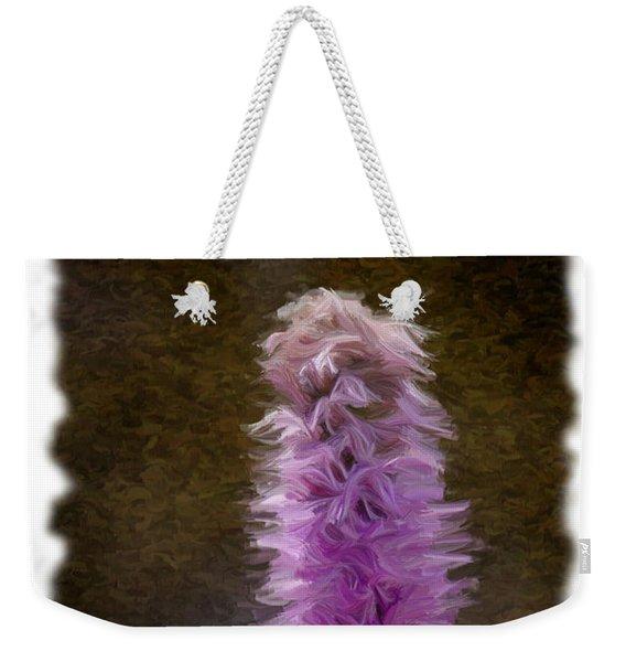 Painted Purple Flower Weekender Tote Bag