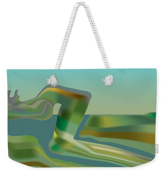 Painted Riverland Weekender Tote Bag