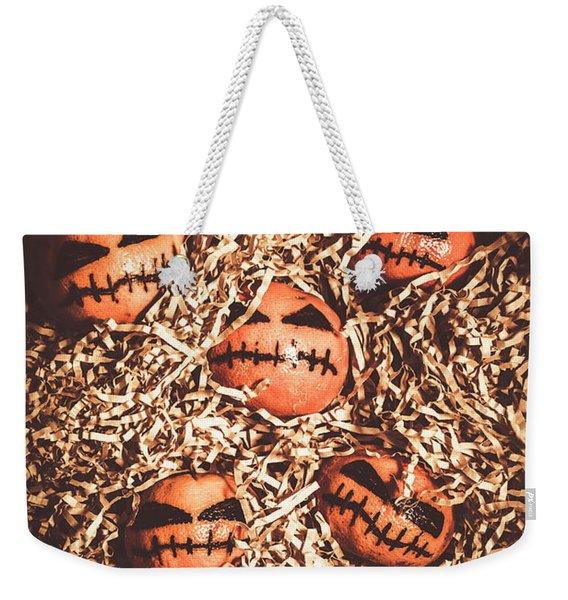painted tangerines for Halloween Weekender Tote Bag