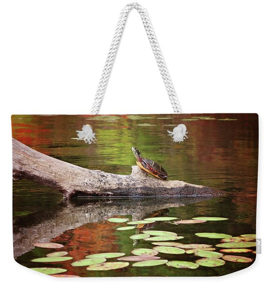 Painted Turtle Weekender Tote Bag