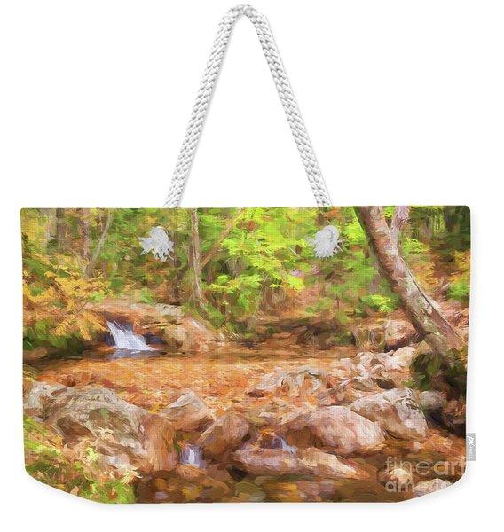 Painted Waterfall Foliage Weekender Tote Bag