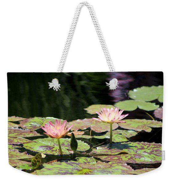 Painted Waters - Lilypond Weekender Tote Bag