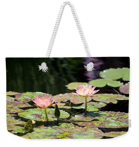 Painted Waters - Lilypond Weekender Tote Bag