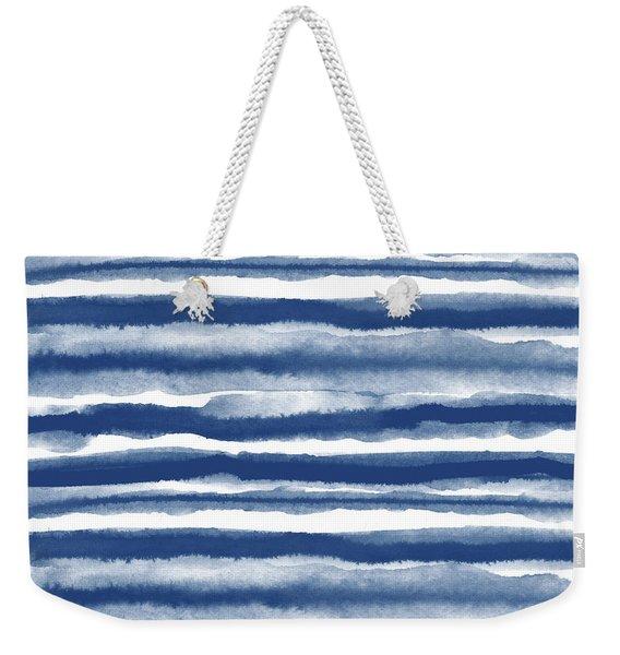 Painterly Beach Stripe 3- Art By Linda Woods Weekender Tote Bag