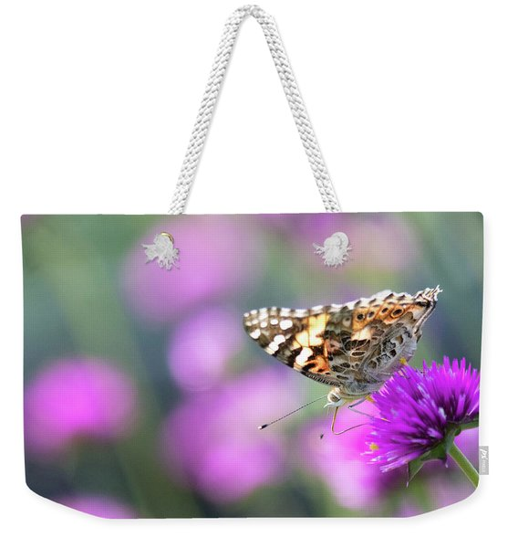 Weekender Tote Bag featuring the photograph Painterly Painted Lady 2 by Brian Hale