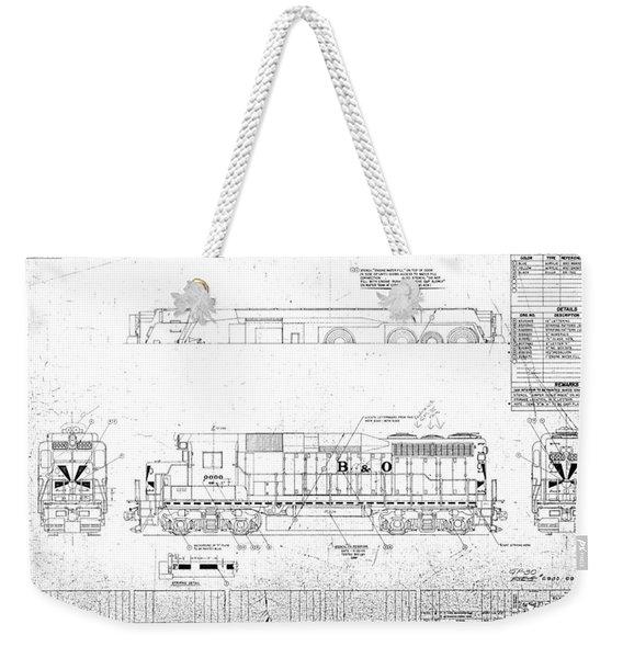 Painting And Lettering Diagramgp30 Weekender Tote Bag