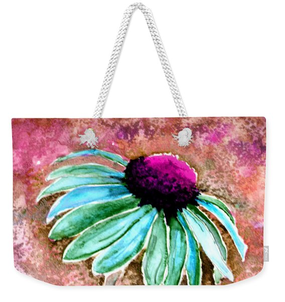 Weekender Tote Bag featuring the painting Painting Cone Flower 8615d by Mas Art Studio