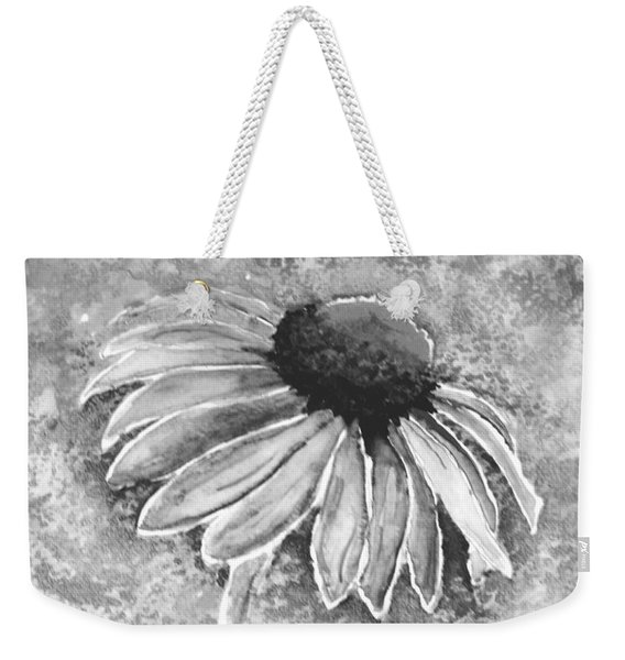 Weekender Tote Bag featuring the painting Painting Cone Flower 8615e by Mas Art Studio