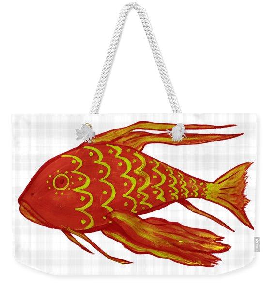 Painting Red Fish Weekender Tote Bag