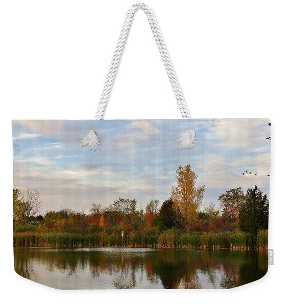 Painting The Pond Weekender Tote Bag