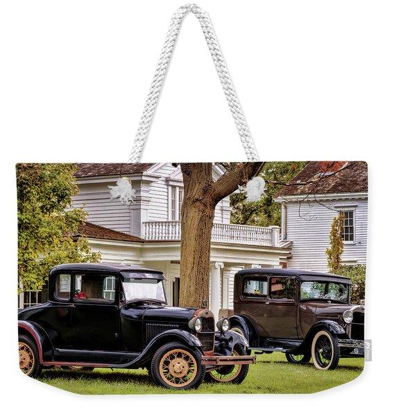 Pair Of Ford Model A  Weekender Tote Bag