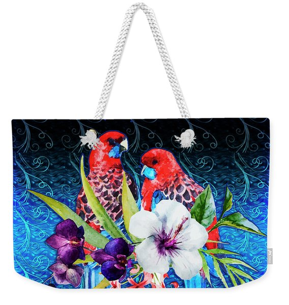 Paired Parrots Weekender Tote Bag