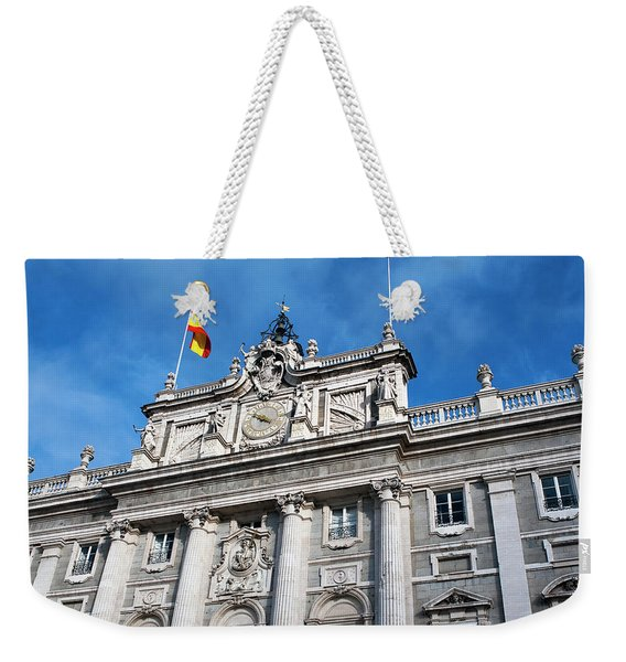 Weekender Tote Bag featuring the photograph Palacio Real by Lorraine Devon Wilke