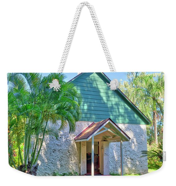 Weekender Tote Bag featuring the photograph Palapala Ho'omau Congregational Church by Jim Thompson