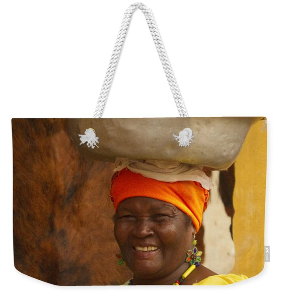 Palenquera In Cartagena Colombia Weekender Tote Bag