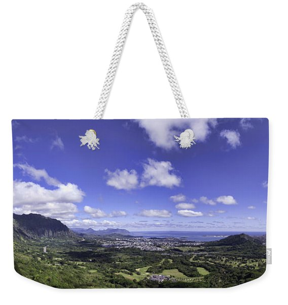 Pali Lookout Panorama Weekender Tote Bag