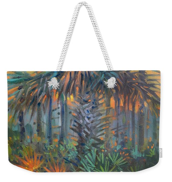 Palm And Egret Weekender Tote Bag