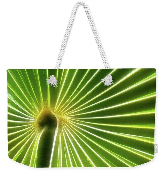 Palm Glow Weekender Tote Bag