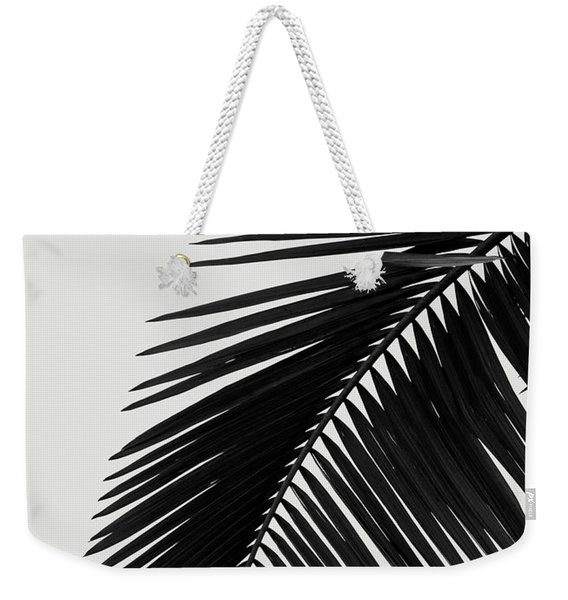 Palm Leaves Bw Weekender Tote Bag