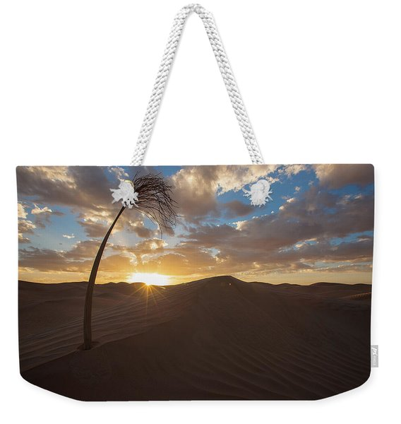 Palm On Dune Weekender Tote Bag