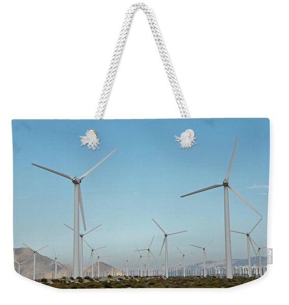 Palm Springs Windfarm Weekender Tote Bag